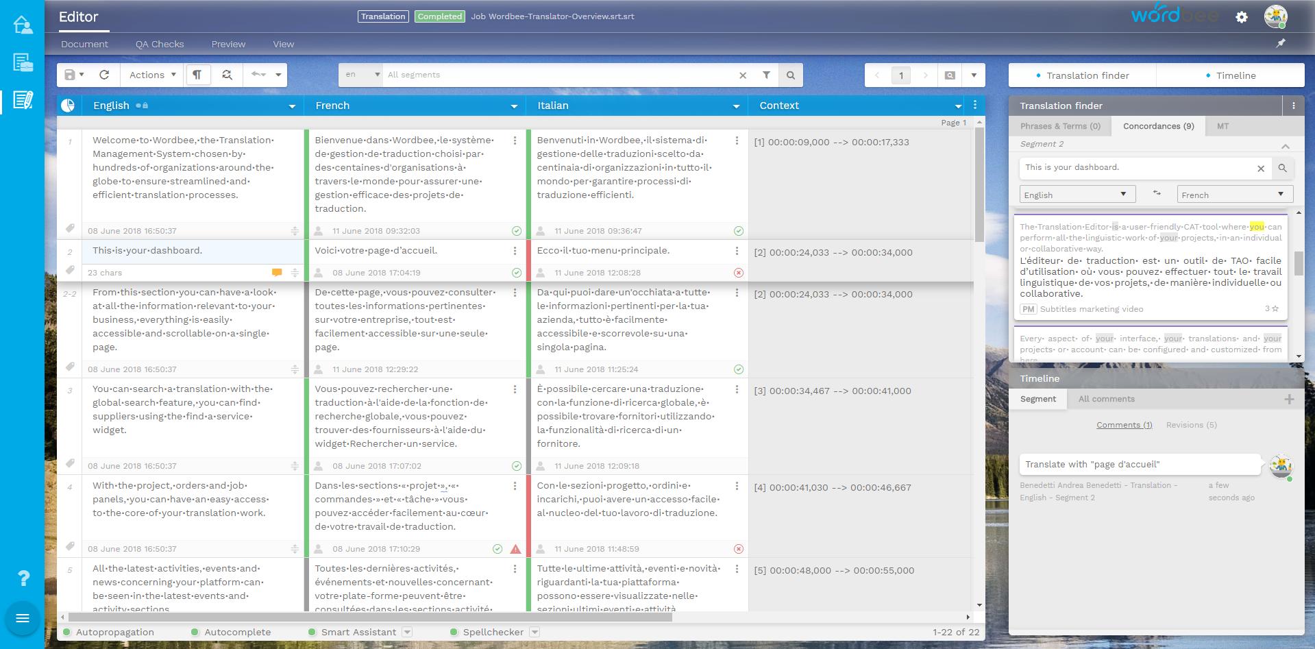 Wordbee screenshot