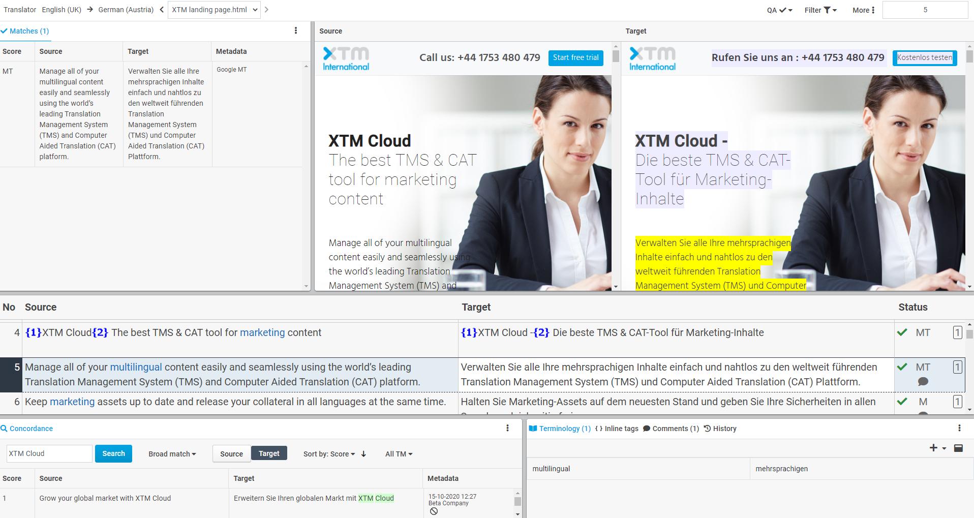 XTM Cloud screenshot