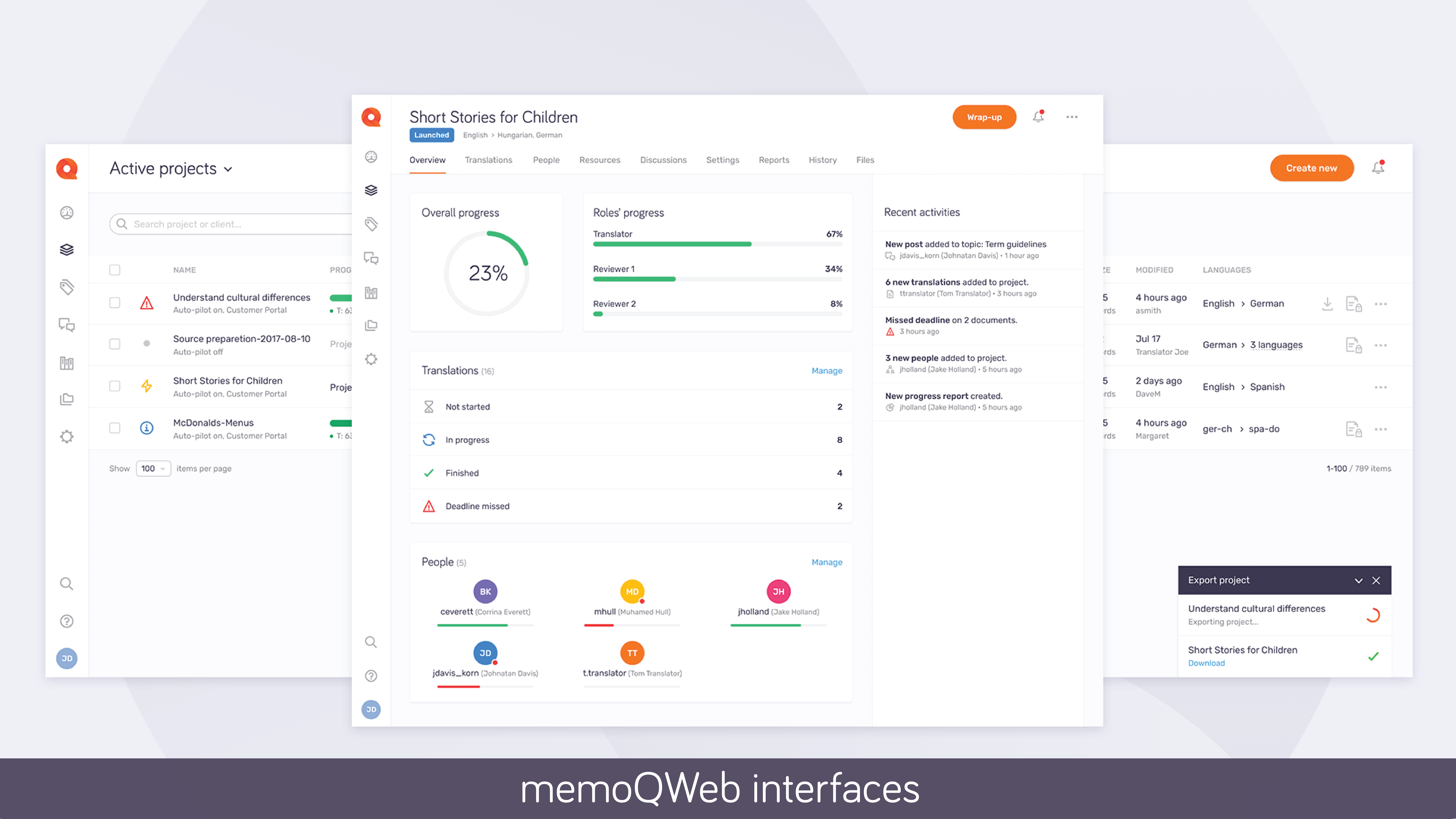 memoQ Server screenshot
