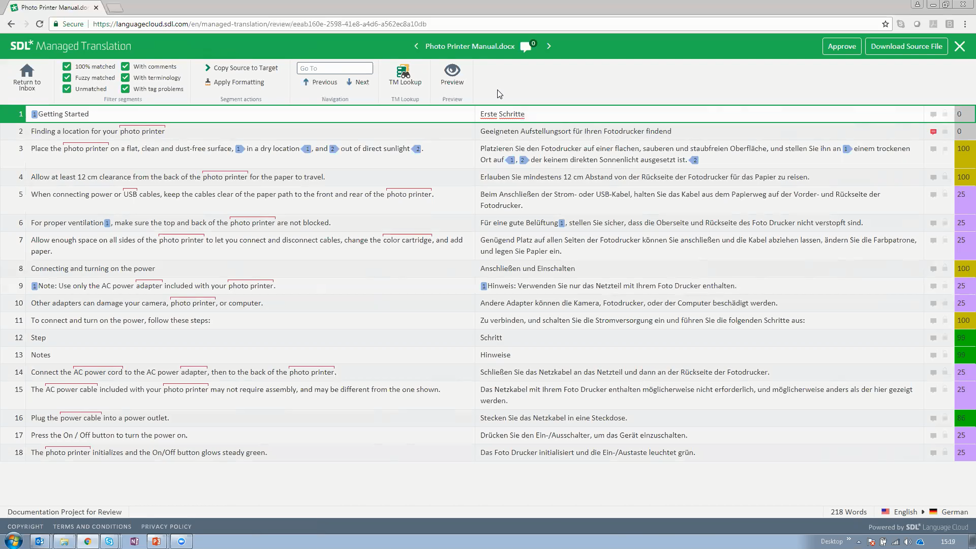 SDL Managed Translation screenshot