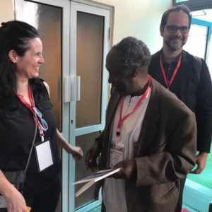 Carreen with Professor Ngugi