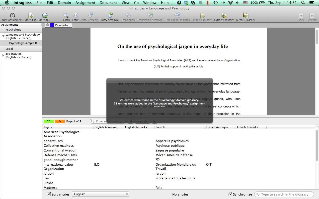 Intragloss screenshot