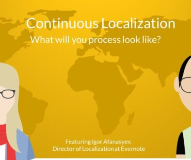 Continuous localization with Igor Afanasyev