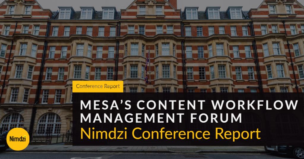 MESA's Content Workflow Management Forum