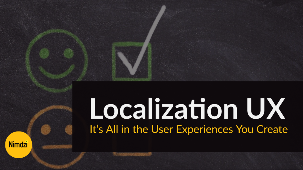 Localization UX