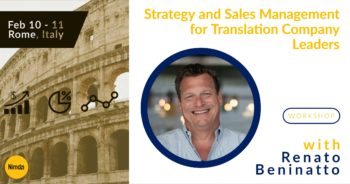 Strategy and Sales Management for Translation Company Leaders – Workshop with Renato Beninatto