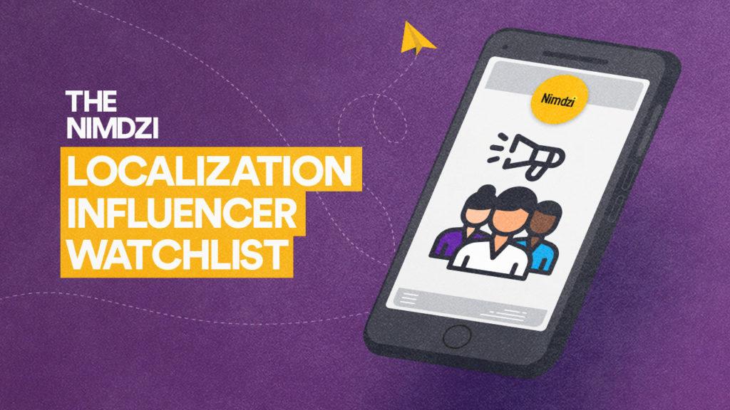The Nimdzi Localization Influencers Watchlist