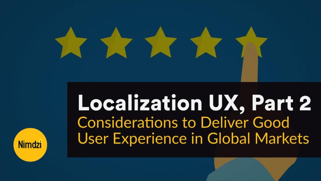 Localization UX, Part 2