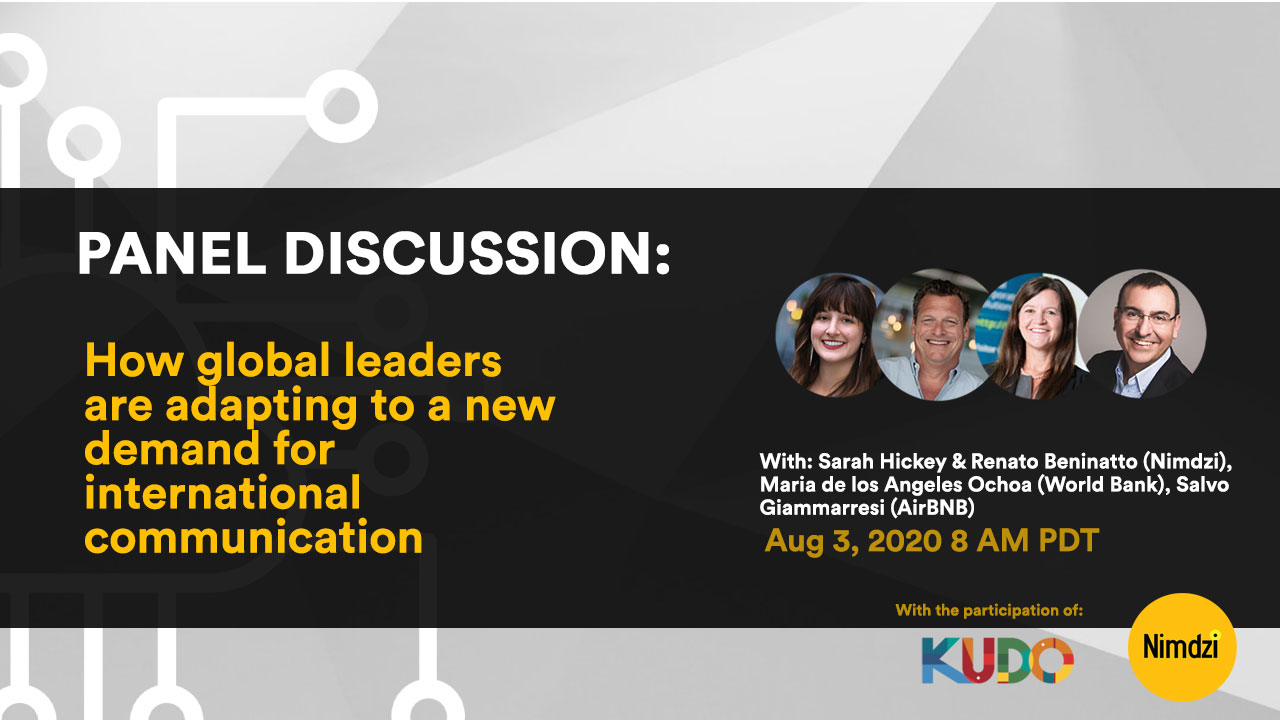 Webinar: Adapting to a New Demand for International Communication