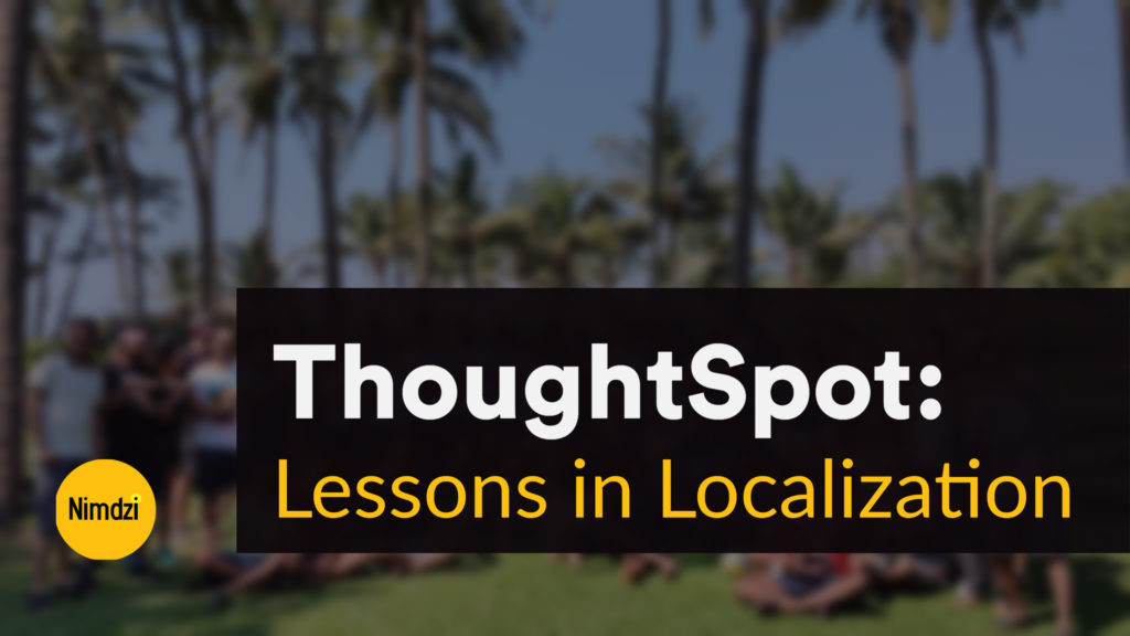 Lesson in Localization: ThoughtSpot