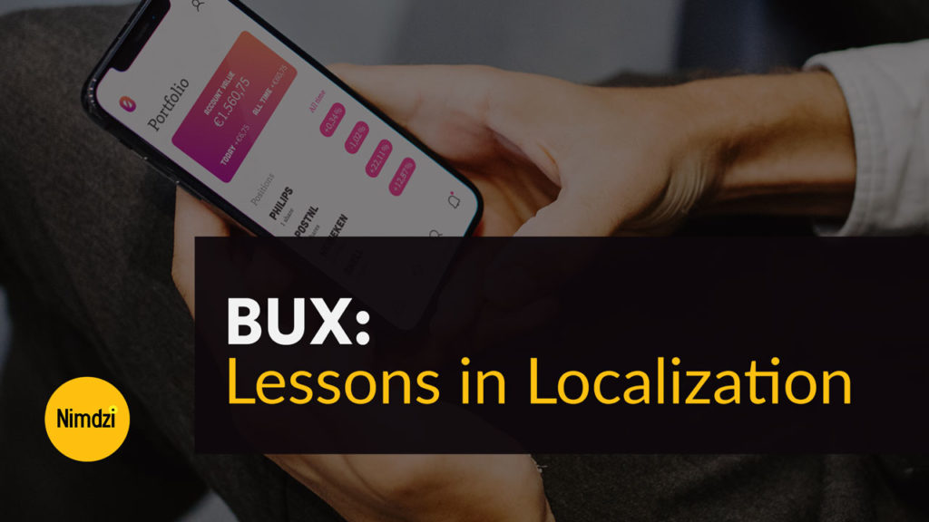 Lessons in Localization: BUX