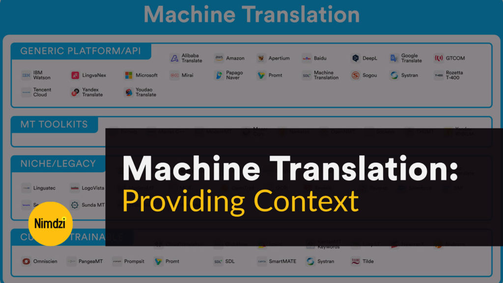 Machine Translation: Providing Context