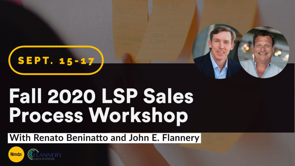 Fall 2020 LSP Sales Process Workshop