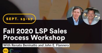 Fall 2020 LSP Sales Process Workshop