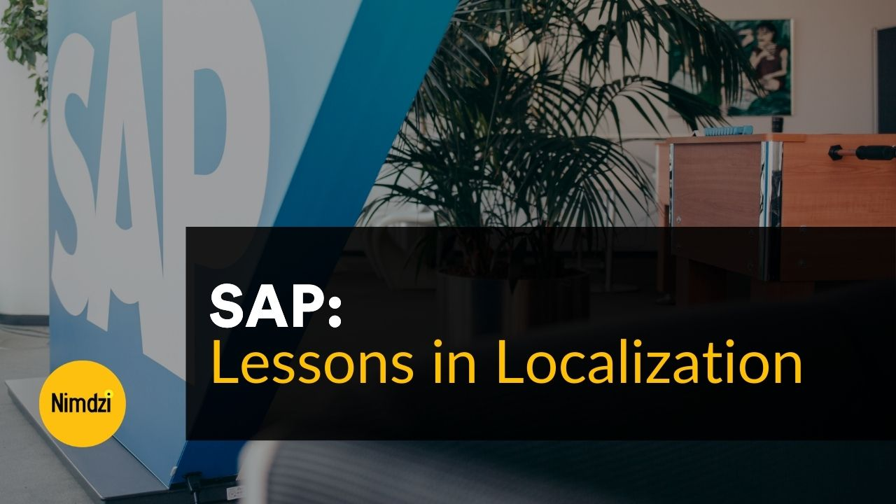 Lessons in Localization: SAP