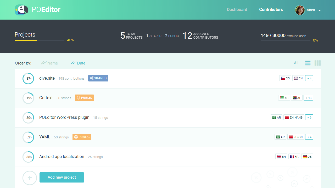 POEditor screenshot