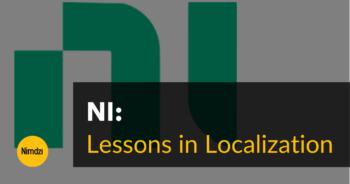 Lessons in Localization: NI