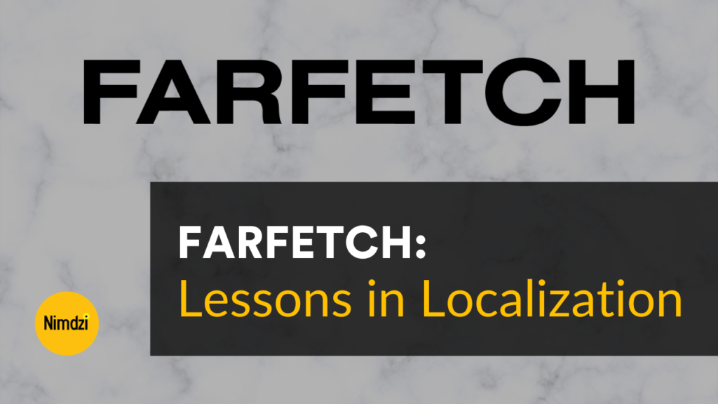 Lessons in Localization: FARFETCH